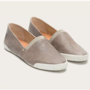 FRYE Melanie Leather Slip On Loafers Flats Gray 9
